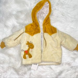 NWT Vintage baby zipper coat 24M